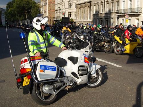Motor bike protest in central London - 100 2103