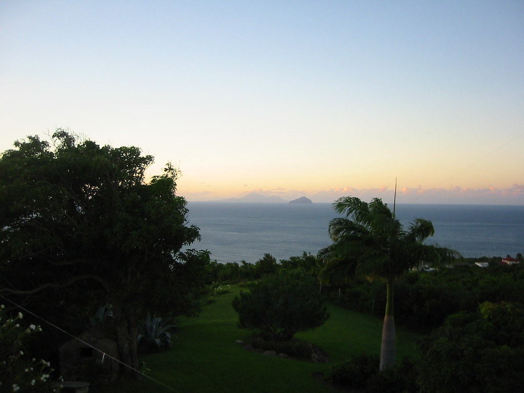 Montserrat - Redonda and Nevis at Sunset