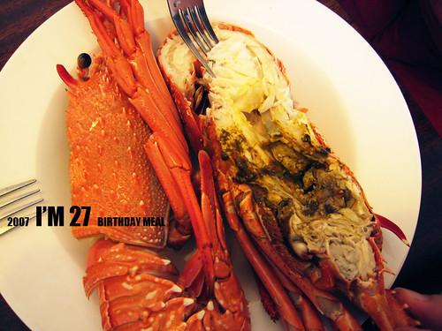 生日龍蝦餐