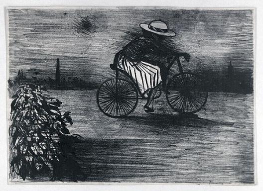 Blackman, Girl on Bicycle