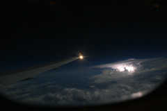 Central America (dbcnwa) Tags: ocean above light sea sky storm beautiful weather night clouds airplane stars flying fantastic costarica aviation border wing atmosphere aerial american midnight beyond thunderstorm lightning boeing panama americanairlines airborne tropics aa 767 centralamerica anvil instability aal boeing767 b767 767300 aeronautical b767300 763 b763 convective american767 navlight scldfw scelkdfw 767wing american767300