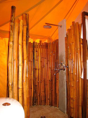 Baño de bambú en el Khem Villas