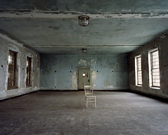 blue room; part 1 (david explosion.) Tags: abandoned 120 mamiya film mediumformat chair fuji ellis exploring rangefinder explore southside statueofliberty decayed ellisisland ue expiredfilm statehospital mamiya7 island3 aloneinthedark pro160s theonegroup pro160 isolationhospital