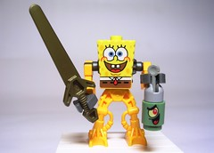 The return of SpongeBob (Karf Oohlu) Tags: toy lego cartoon revenge spongebob heroes sponge bionicle spongebobsquarepants squarepants plankton