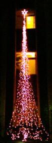 石牌聖誕燈飾近景