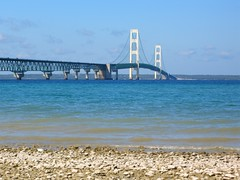 """Mighty Mac"" (shrosa814 (returning soon)) Tags: lake michigan lakemichigan mackinacbridge mightymac lakemichigancircletour"