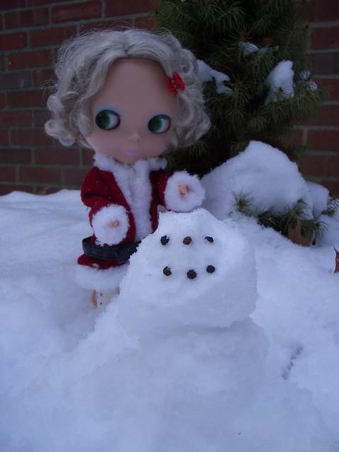 blythe sized snowman!