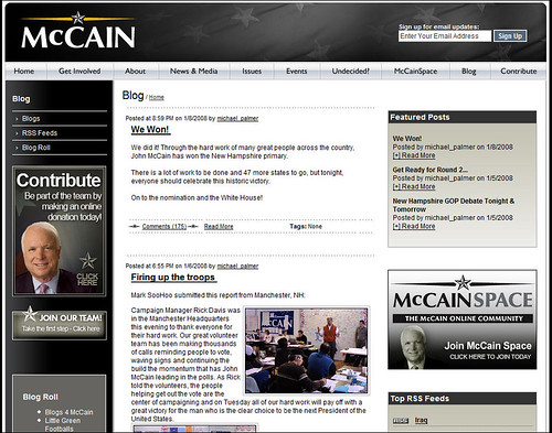 John McCain for President Blog