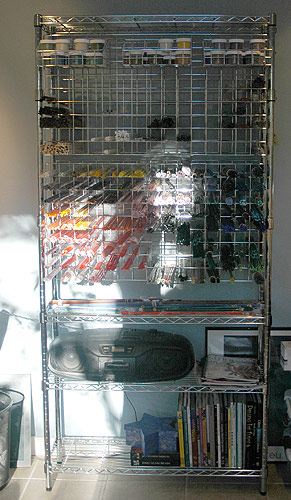 glass storage rack