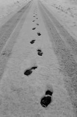 am i alone / yalnz mym (ozgurum) Tags: snow me dzce footrprint mailciler