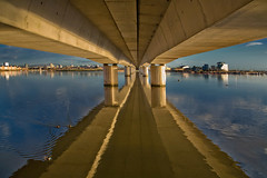 Dawn Light Under Bridge (wentloog) Tags: wales architecture sunrise canon eos dawn interestingness cardiff explore 5d cardiffbay wfc canoneos5d ef24105f4l wentloog welshflickrcymru stevegarrington betterthangood