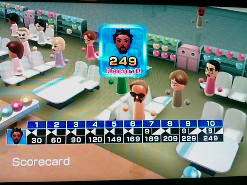 Wii Bowling highscore of 249