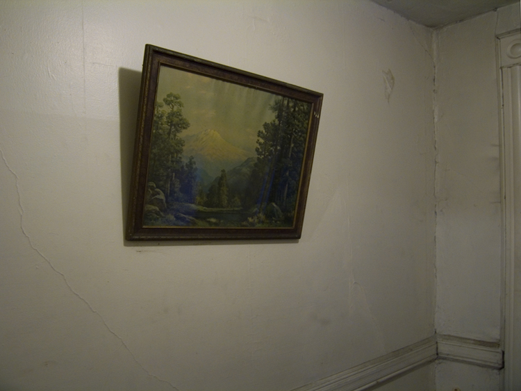empty room with painting