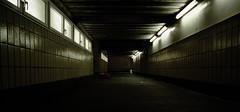 Die Fnf Stunden von Fulda 2/7 (foddokross) Tags: cold night canon germany licht scary neon fuji ae1 kacheln bahnhof tunnel spooky tiles trainstation desolate kalt 400asa sensia verlassen einsam unterfhrung naumburg leuchtstoffrhren gekachelt