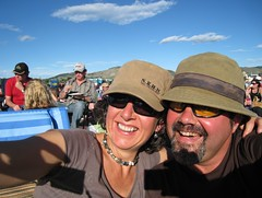 Deb and Dan at outdoor gig