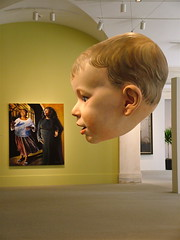 Portrait Competition_Child's Head (side) (catface3) Tags: boy portrait sculpture painting washingtondc smithsonian head competition 2006 suspended portraitgallery americanart catface3 triennialcontest outwinboochever