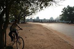 The road outside Angkor Wat