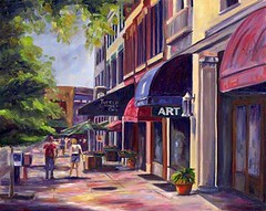 College Street, in Asheville; used with permission of the artist