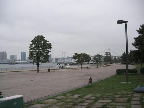 バーベキュー場からの東京湾