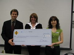 Van Tech cheque presentation