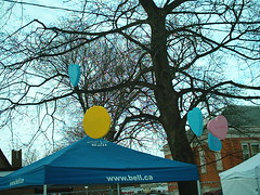 Candy Heart Tree (jessica_in_to) Tags: winter cambridge snow ontario canada festival centralpark candyland christmasincambridge