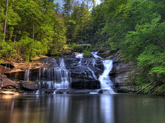 The Falls at Panther Creek (James Duckworth) Tags: blue reflection green water forest swimming woods hiking clayton waterfalls hollywood appalachians northgeorgiamountains panthercreek appalachainmountains panthercreekfalls jimduckworth tallalulahfalls jamesduckworth jamesduckworthphotography