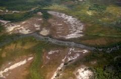 Arnhem Land from the air (polly hemming) Tags: brown lines plane aerialview 29 runway landingstrip arnehmland cesna210