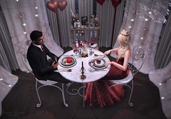 { treats for the sweet } (Trinetty Skytower) Tags: sl secondlife avatar digital virtual ispachi romance love couple valentine sweet datenight halfdeer anc followus dustbunny hive justbecause exile