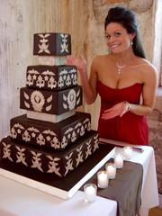 Tada! Joe and Conner's Wedding Cake (Sugar Envy) Tags: wedding cake square de cards casa fireplace candle place wine chocolate cork weddingcake loco joe winery conner fondant centerpieces deocrations satinice chocolatesquare jamesrosselle casadelocowineryjoeandconnersweddingcandlecenterpieceschocolatesquareweddingcake sugarenvycookies sugarenvy