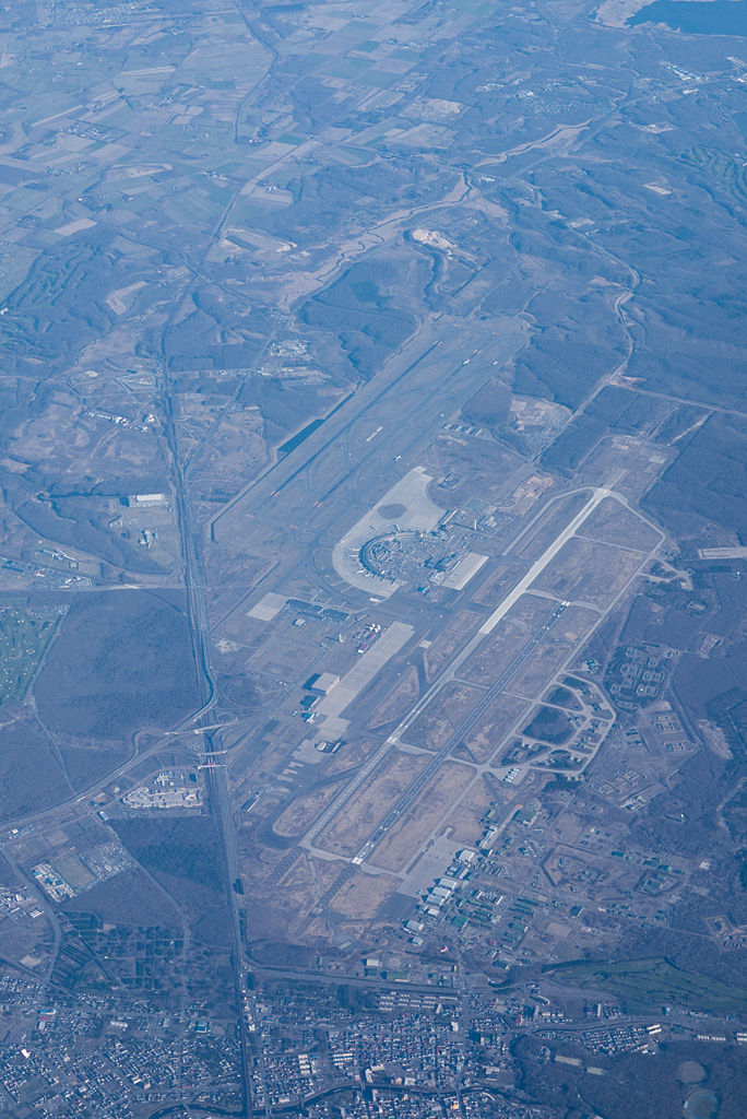 New Chitose Airport view from the sky