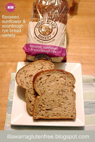 Country Life Gluten Free bread  - flax seed, sunflower & sourdough rye for wheat sensitivity
