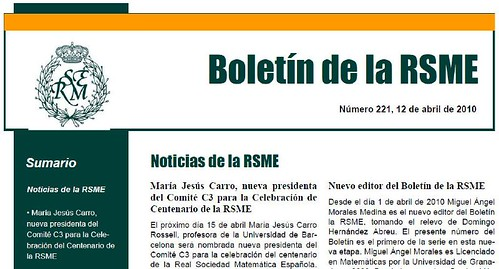 Miguel Ángel Morales Medina, nuevo editor del Boletín de la RSME