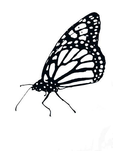 mariposa para recortar. Manualidades