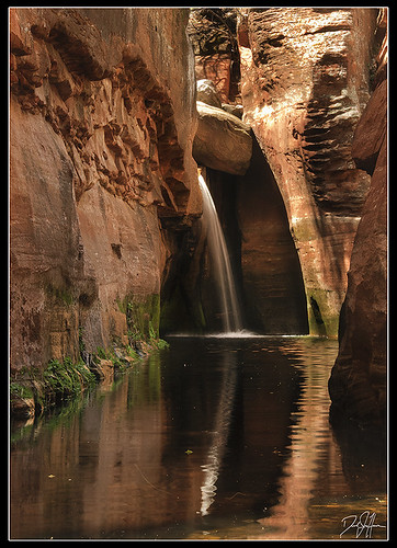 Secret Waterfall in the Secret Canyon by Dan.Heacock