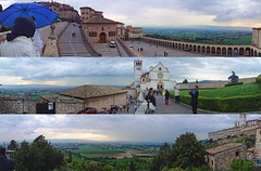 Exploring Assisi, Perugia (williamcho) Tags: travel vacation italy panorama tourism scenic churches cathedrals journey digitalediting perugia topazlabadjust williamcho sonydscwx1 patrickcheah beautificationofjohnpaulii