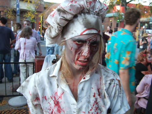 Kristen is zombie chef