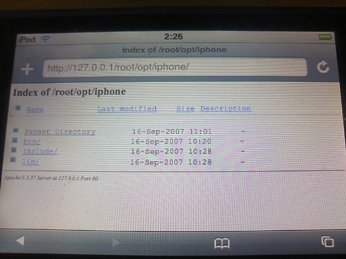 Apache on iPod touch