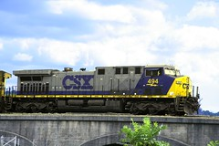 Cumberland, MD CSX freight train