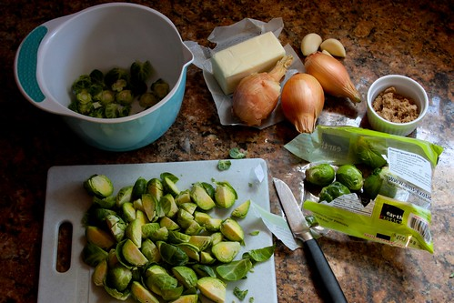 ingredients for brussel sprouts