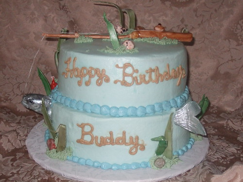 Fish Birthday Cakes. Fishing Birthday Cake