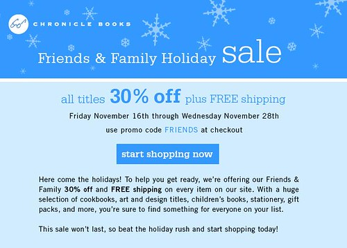 Chronicle Books holiday sale!
