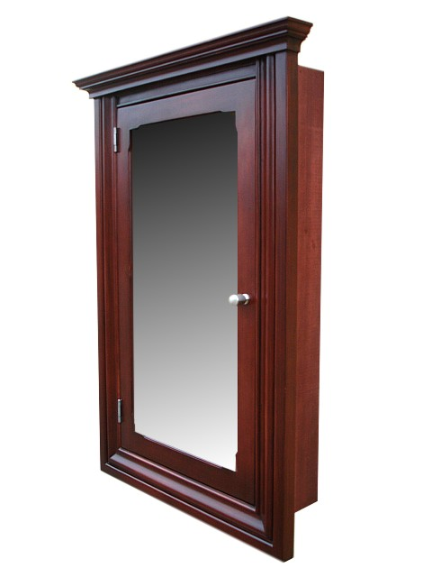 Awesome Sturdy Wood Construction Features A Spacious Cabinet Behind A Mirror Door.  Inside Are Adjustable Wood Shelves To Suit Your Specific Needs.