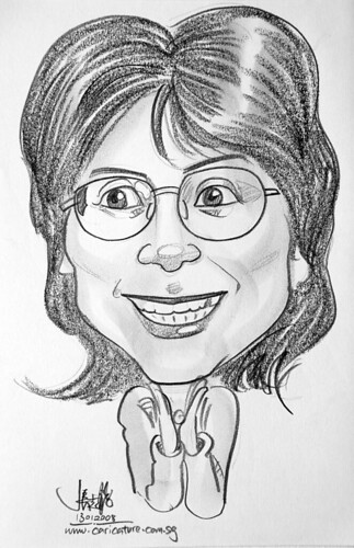 Caricature pencil Norway 16