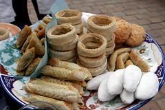 Tasty, flaky sweets (smashz) Tags: food market tea morocco pastry rabat smashz