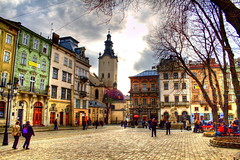 square rynok (ardancer) Tags: color square raw lviv ukraine noise hdr photomatix rynok