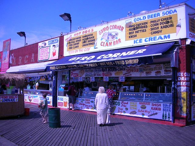 grecian corner on the boardwalk