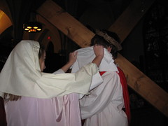 Veronica wipes the face of Jesus by lisaamulvey