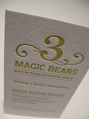 3 Magic Beans Business Card (dolcepress) Tags: ny dolce ithaca letterpress press businesscard