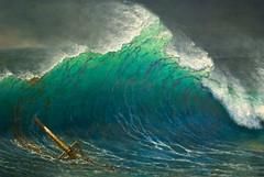 The Shore of the Turquoise Sea, Albert Bierstadt, 1878, detail (Tiz_herself) Tags: sea art water nikon waves michigan turquoise detroit dia explore shipwreck hokusai wreck detroitmichigan detroitinstituteofarts nikon50mmf14 d40x openlateonfridaynights