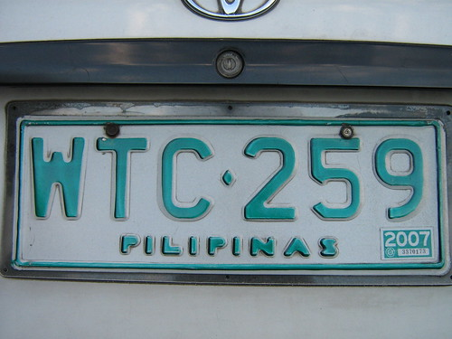 Plate Number Philippines